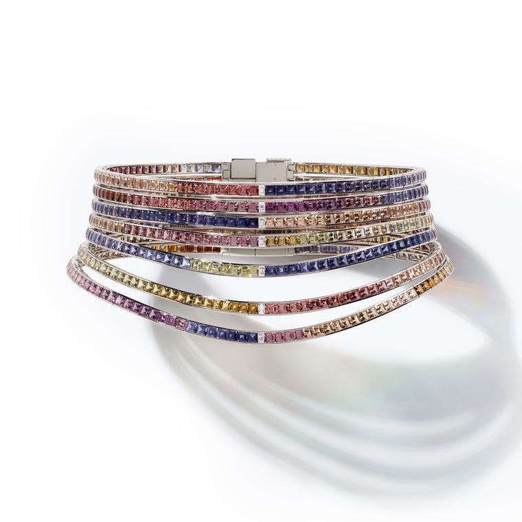 Hermès Feux du Ciel coloured gemstone choker from the HB-IV Continuum collection