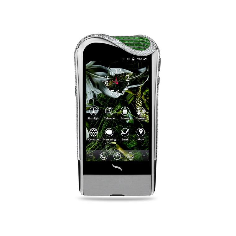 Savelli Genève emerald and diamond smartphone at Selfridges