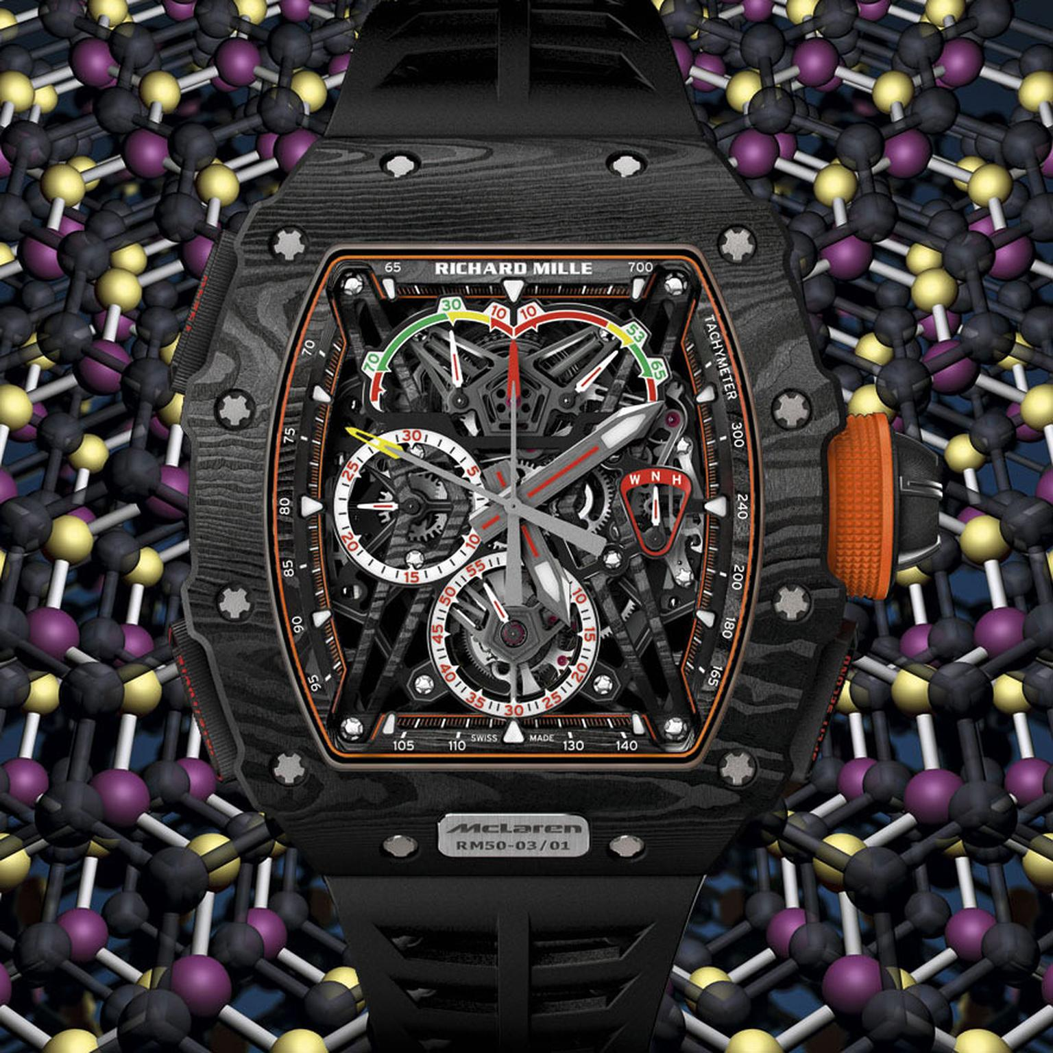 Richard Mille RM 50-03 McLaren F1 watch frontview