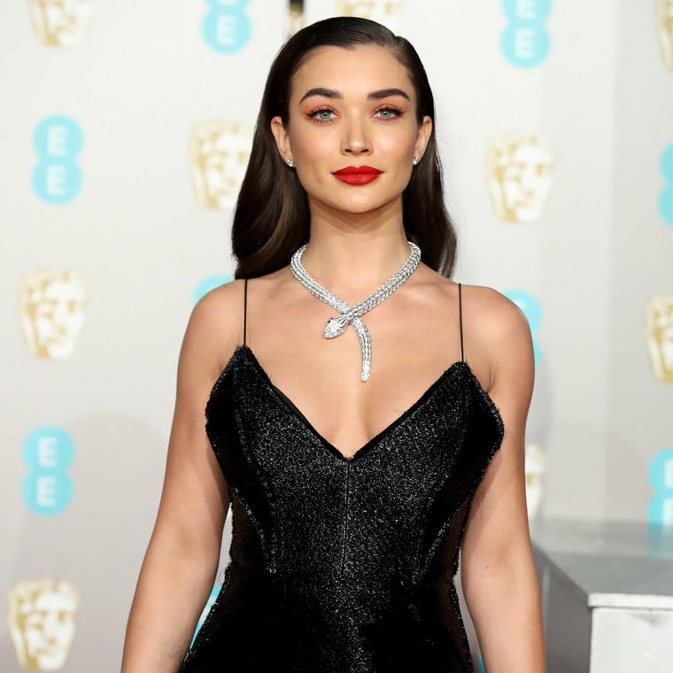 Amy Jackson  Bulgari Serpenti diamond necklace at the BAFTAS 2019