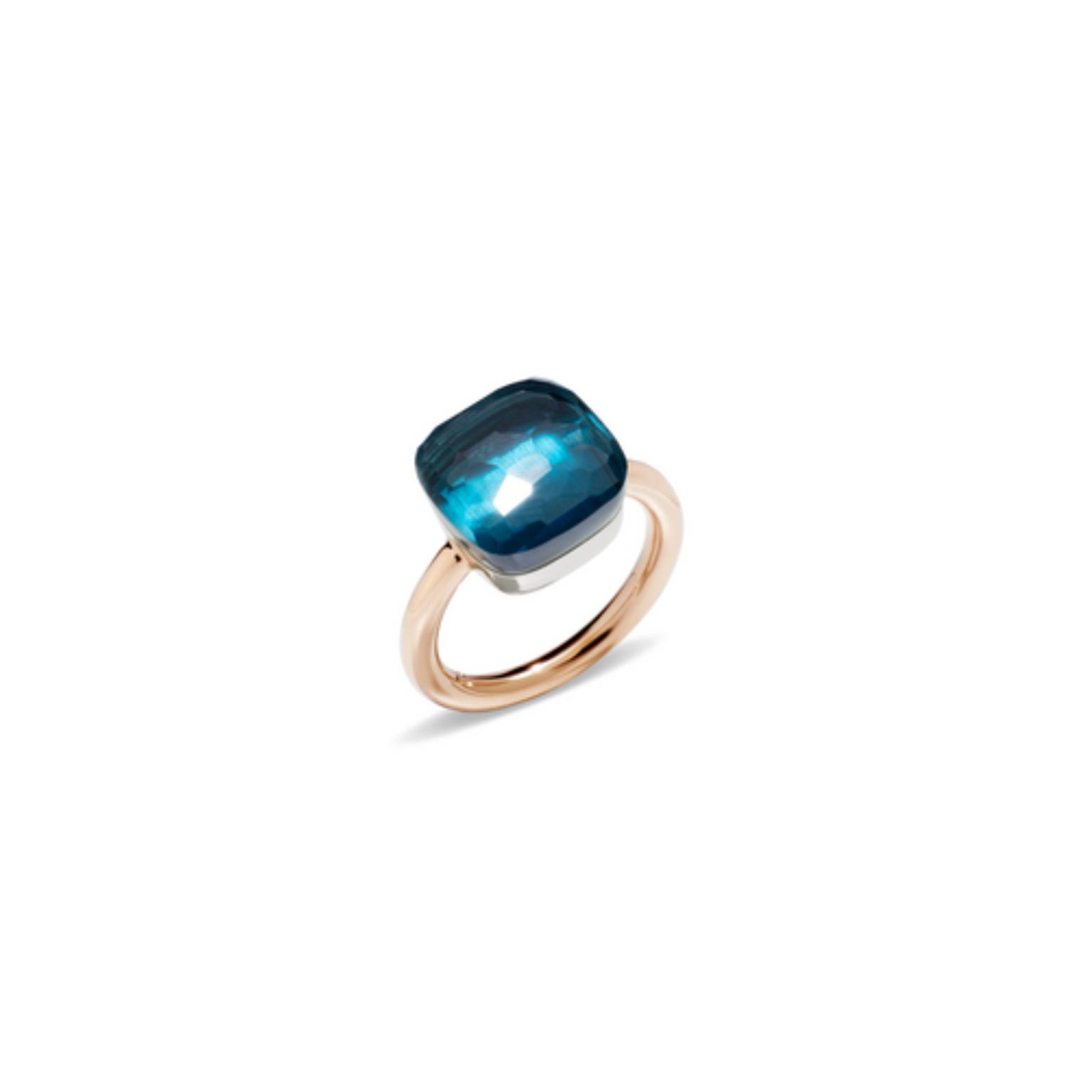 Pomellato Blue London Topaz large ring