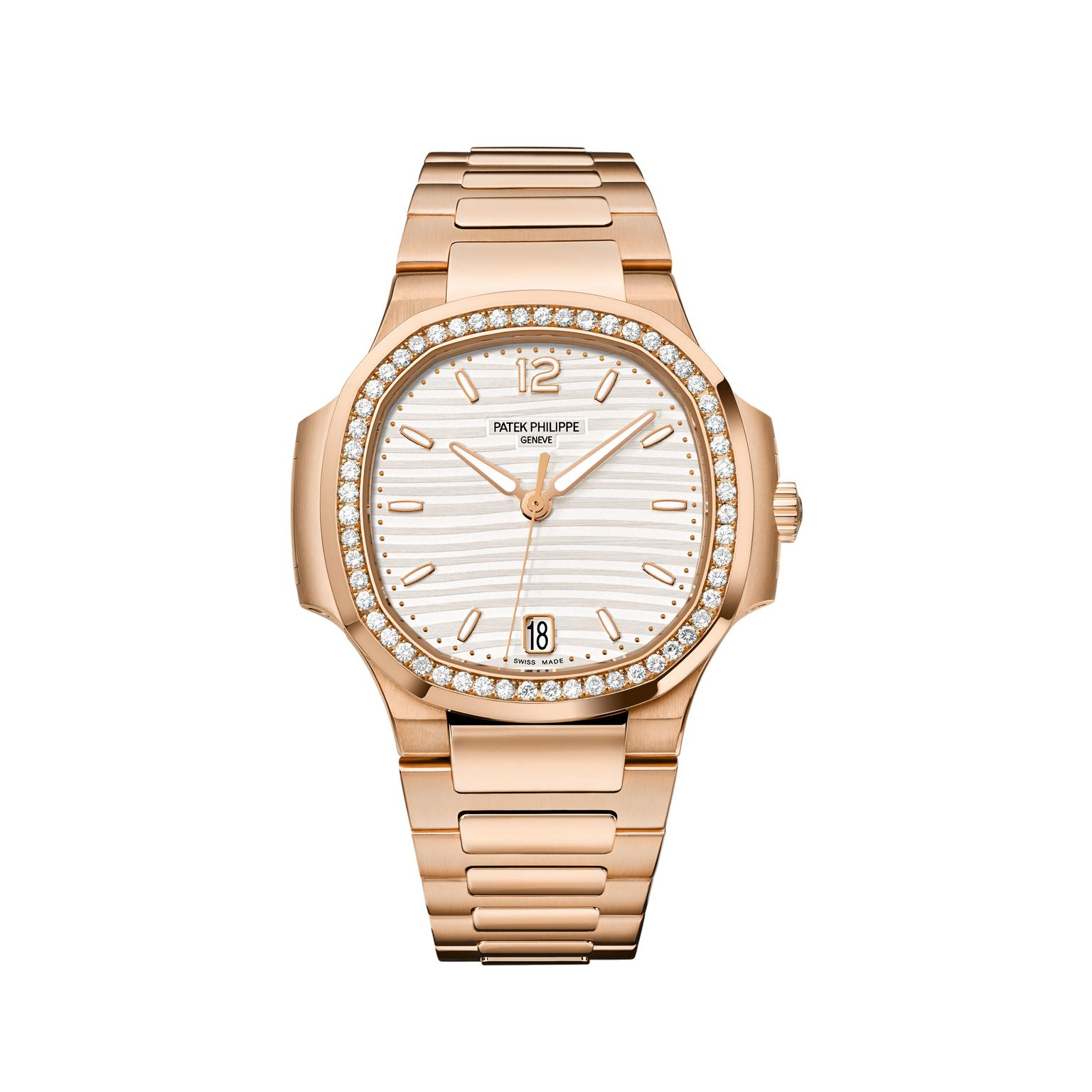 Patek Philippe Nautilus rose gold, white dial