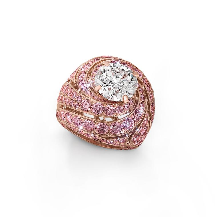 Graff pink diamond swirl ring