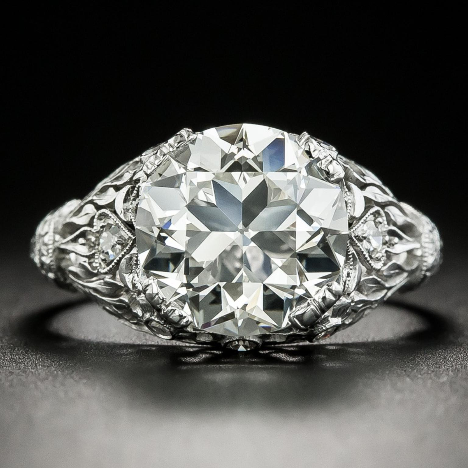 TIFFANY & CO. EARLY-ART DECO ENGAGEMENT RING