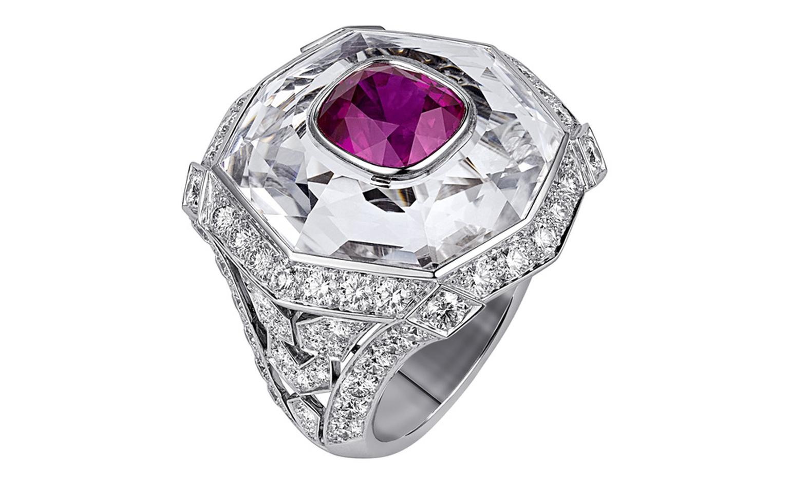 Sortilège de Cartier stone within stone ring