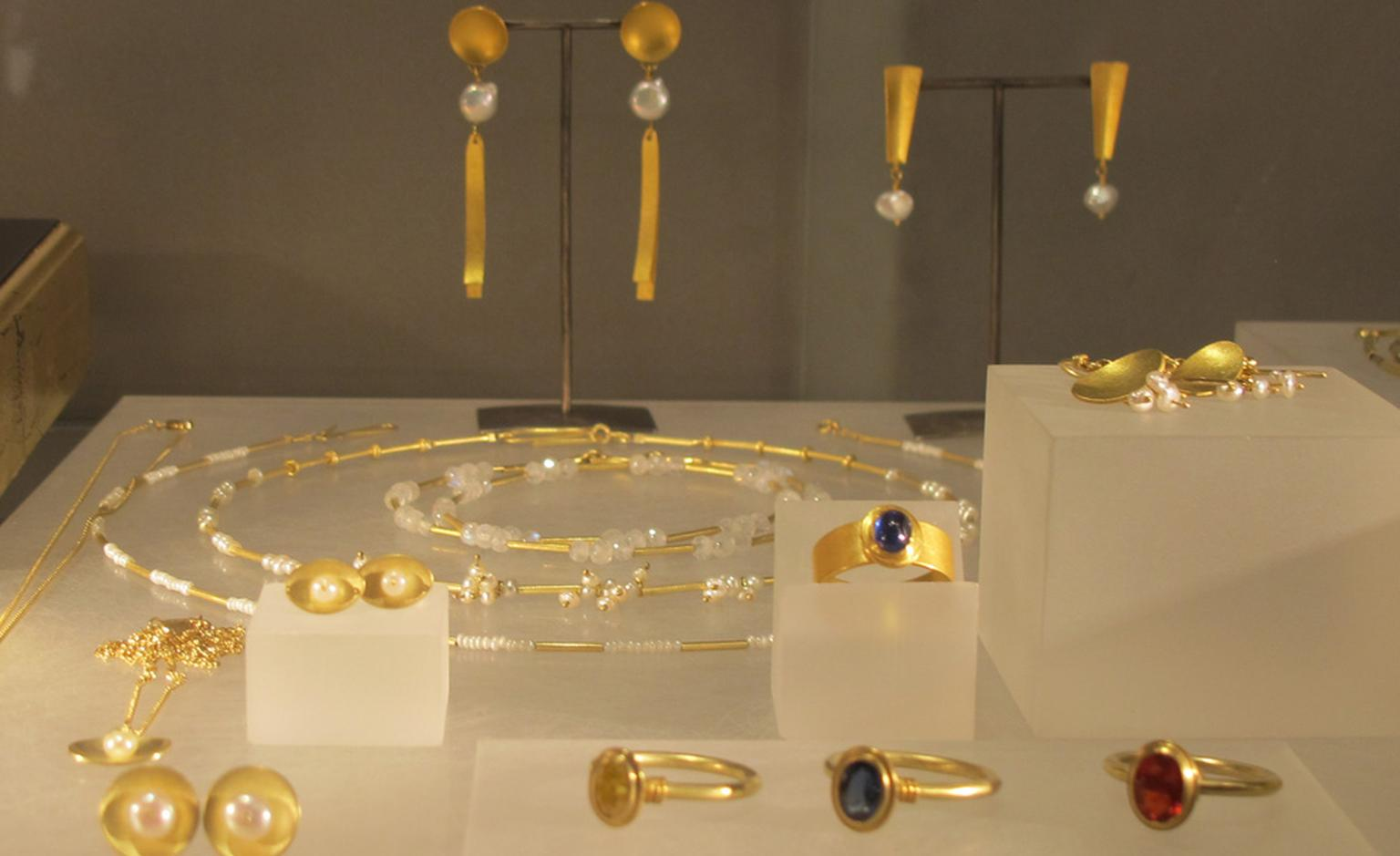 Beautiful jewels at Jean Scott-Moncrieff's display. From £700.