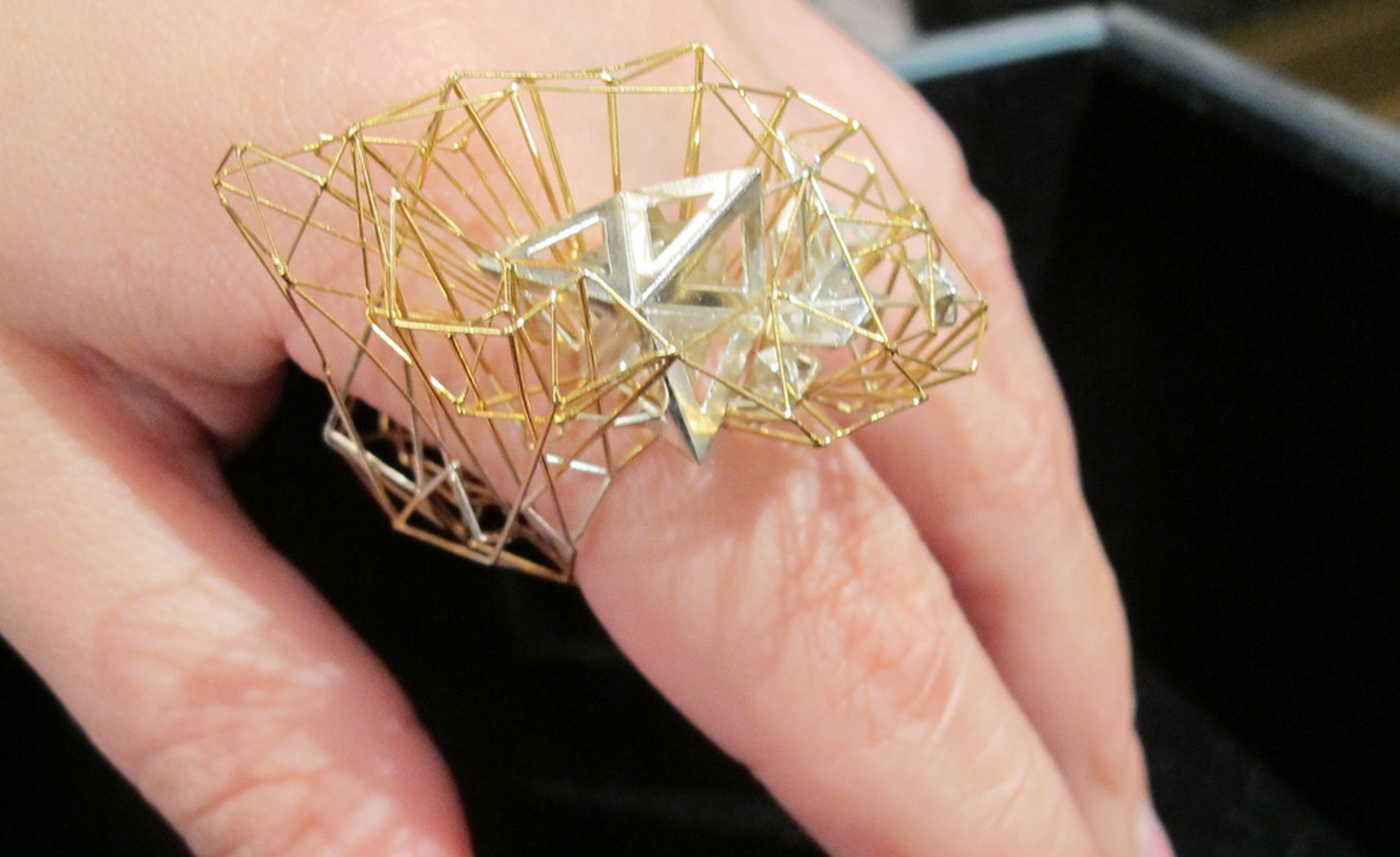 Kathy Vones Miosis ring in gold inspired by dawn light on the Barbican £1,400