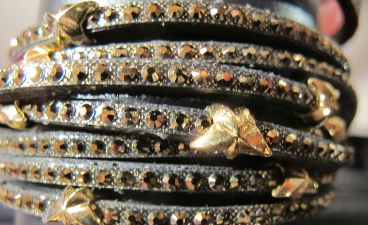 Get a load of Tomas Donocik's leather bracelets studded with gold stars from £165.