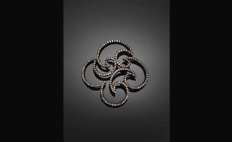 Michelle Ong. 'Arabesque'. Brown Diamond Brooch in Rose Gold. POA