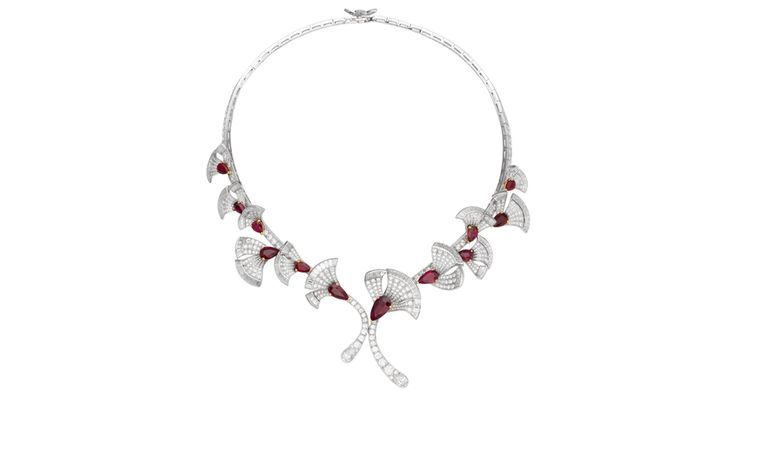 VAN CLEEF & ARPELS. Parade Necklace in white and yellow gold with rubies and diamonds. POA
