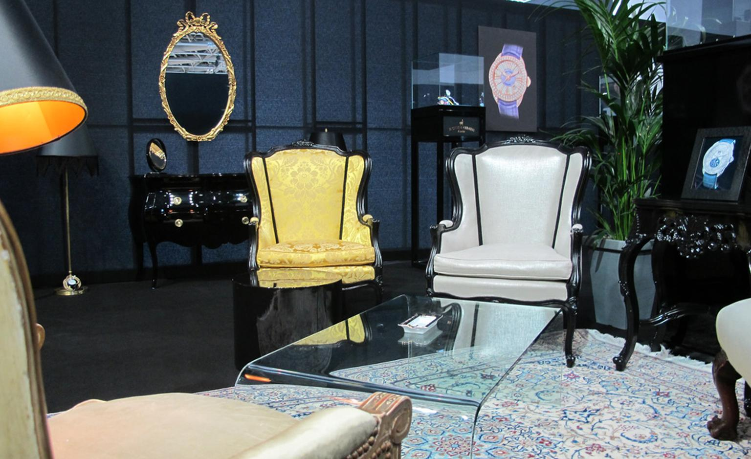 The lavish interiors of Backes & Strauss' salon at the 3rd edition of the 2011 WPHH in Monaco.