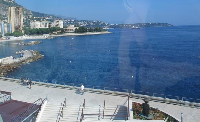 Show with a view: the sea is never far in Monaco and just a step away from the Grimaldi Forum where the WPHH is held.