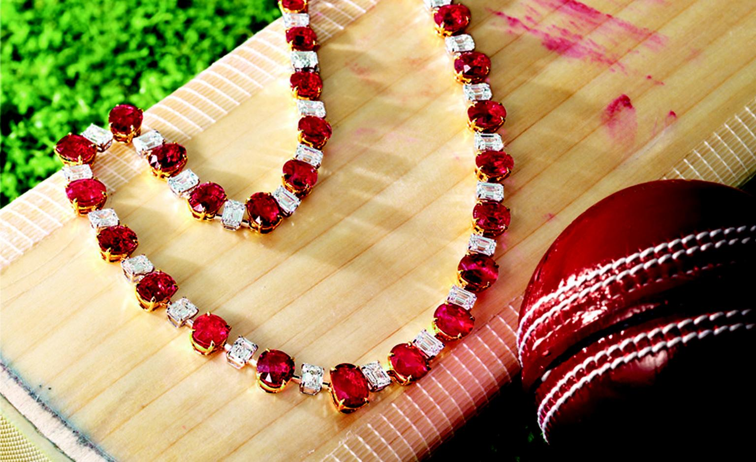 LOT 2822. Ruby and diamond necklace. EST 9,500,000 - 12,000,000 HKD