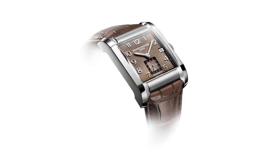 Baume et Mercier Hampton for men: stainless steel case with automatic movement and diamond-set case on strap. £2,320