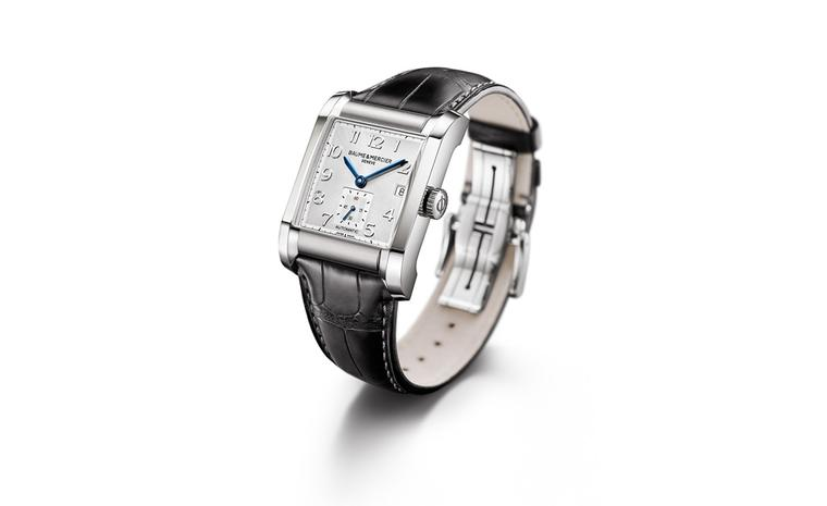 Baume et Mercier Hampton: stainless steel case with automatic movement on leather strap. £2,320.