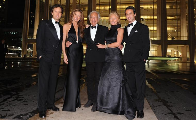 Family snap of Mr & Mrs Lauren and their three children - all dressed by Ralph Lauren.