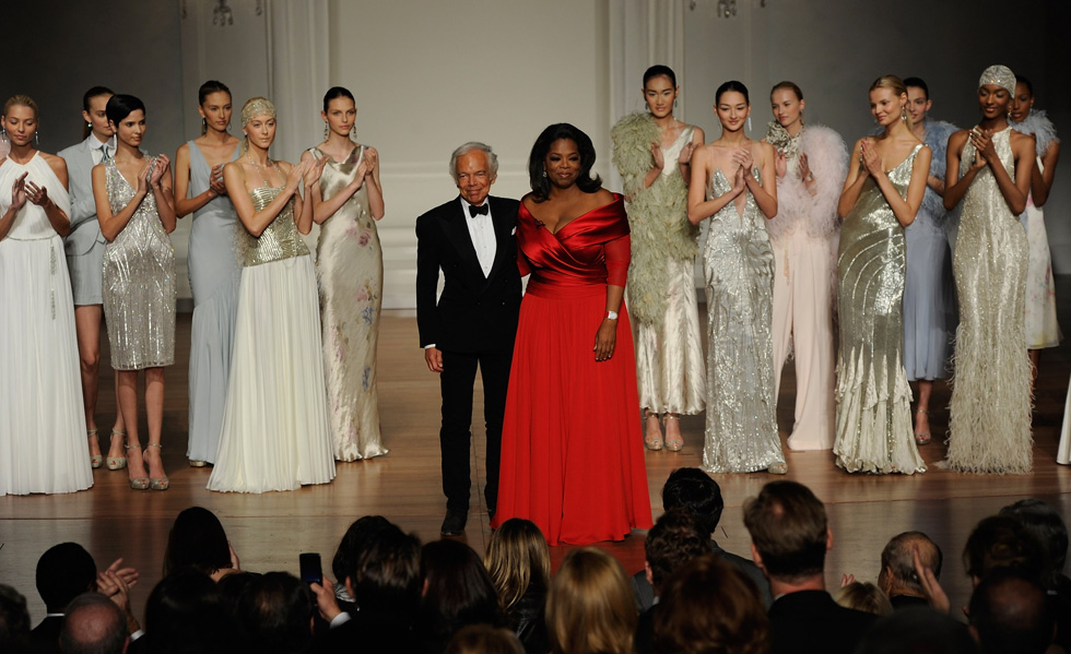 Ralph Lauren and Oprah Winfrey at the Lincoln Centre Fundraiser in New York.