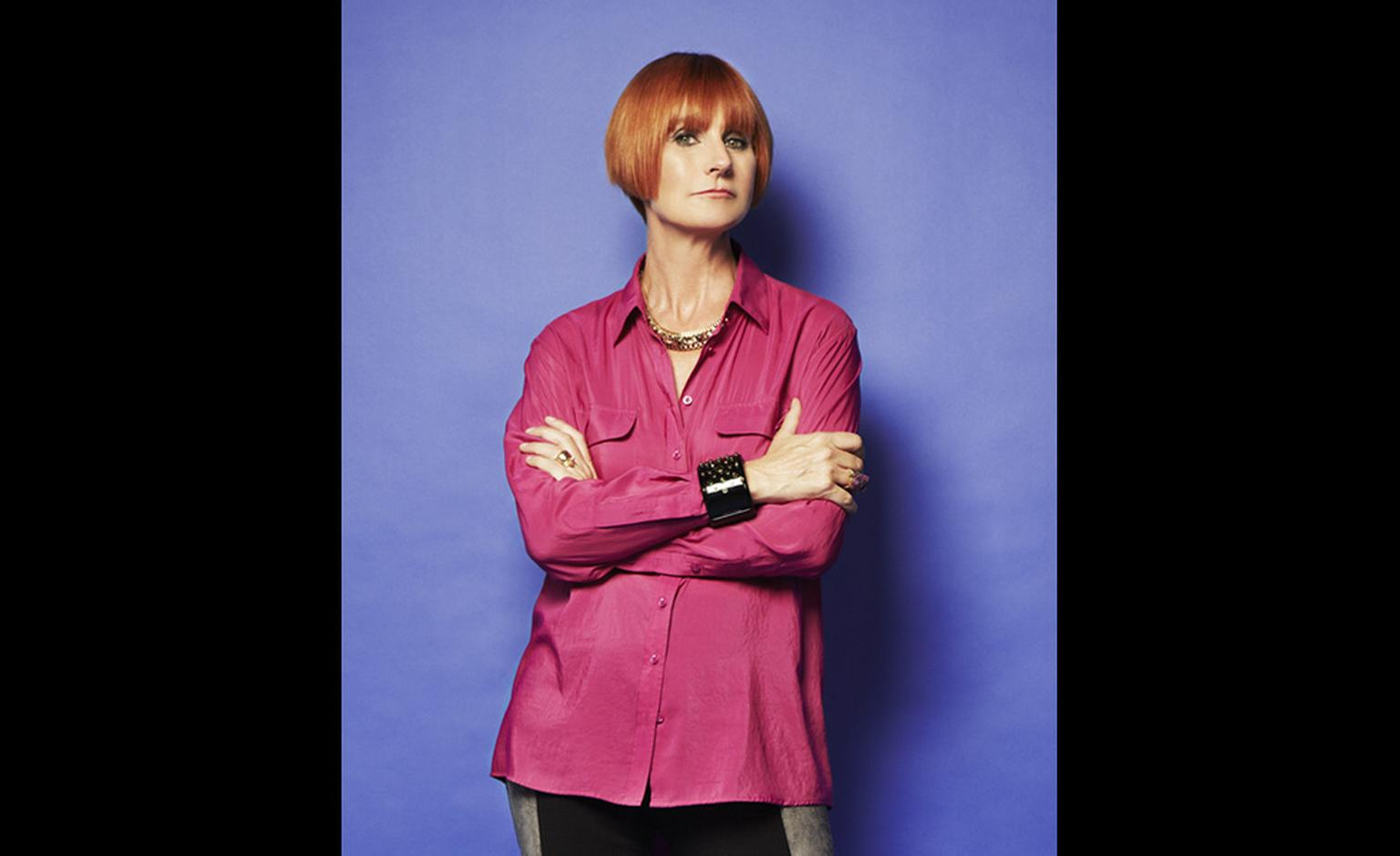 Mary Portas wearing her Celestial cuff.