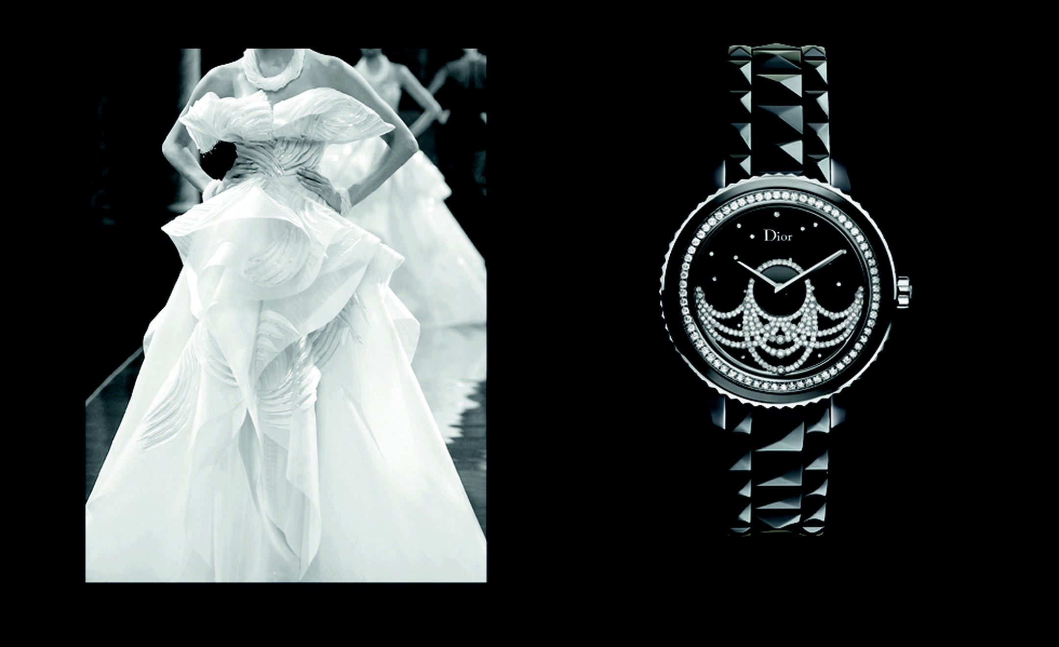 Dior VIII Grand Bal Broderie with diamonds in lace patterns. POA.