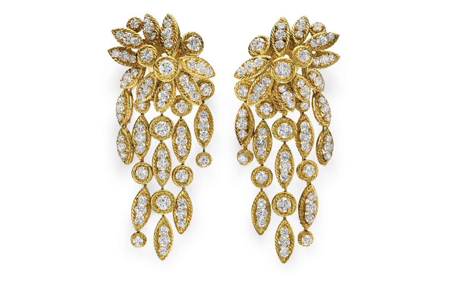 Elizabeth Taylor 'Granny Suite' or Barquerolles earrings by Van Cleef & Arpels