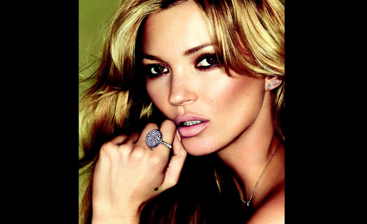 Kate Moss has designed a range of jewels for Fred inspired by her tattoos.