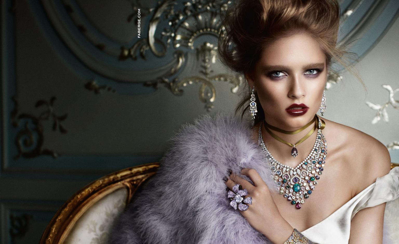 Fabergé's new advertising campaign photographed by Mario Testino.