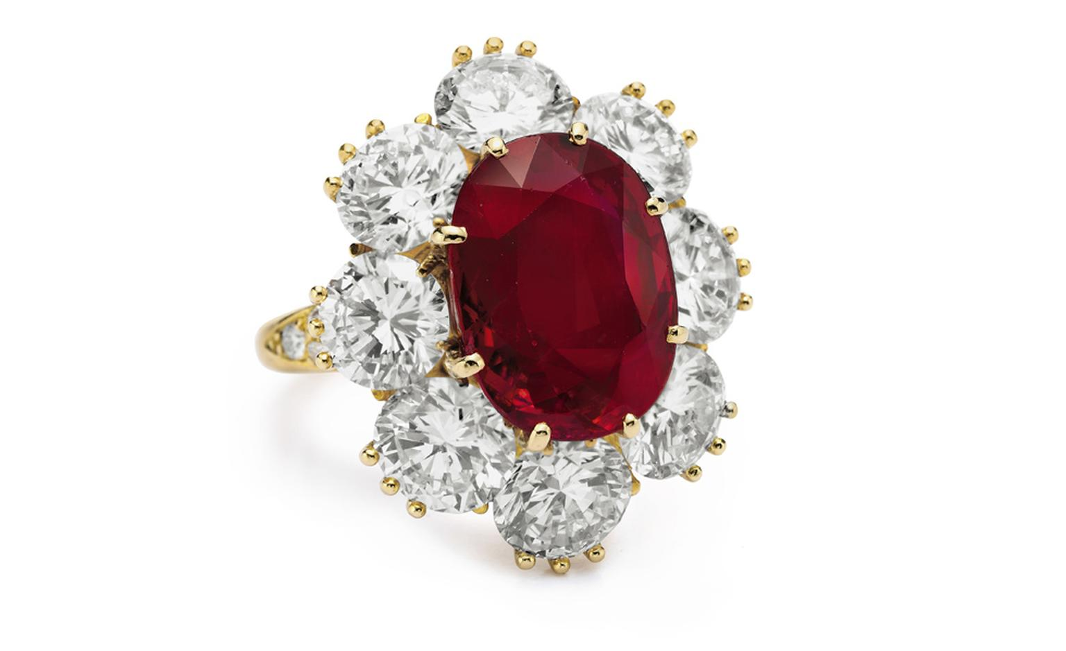 Van Cleef & Arpels. Ruby, Diamond and Yellow Gold Ring (1968).© Christie's Images 2011. POA.