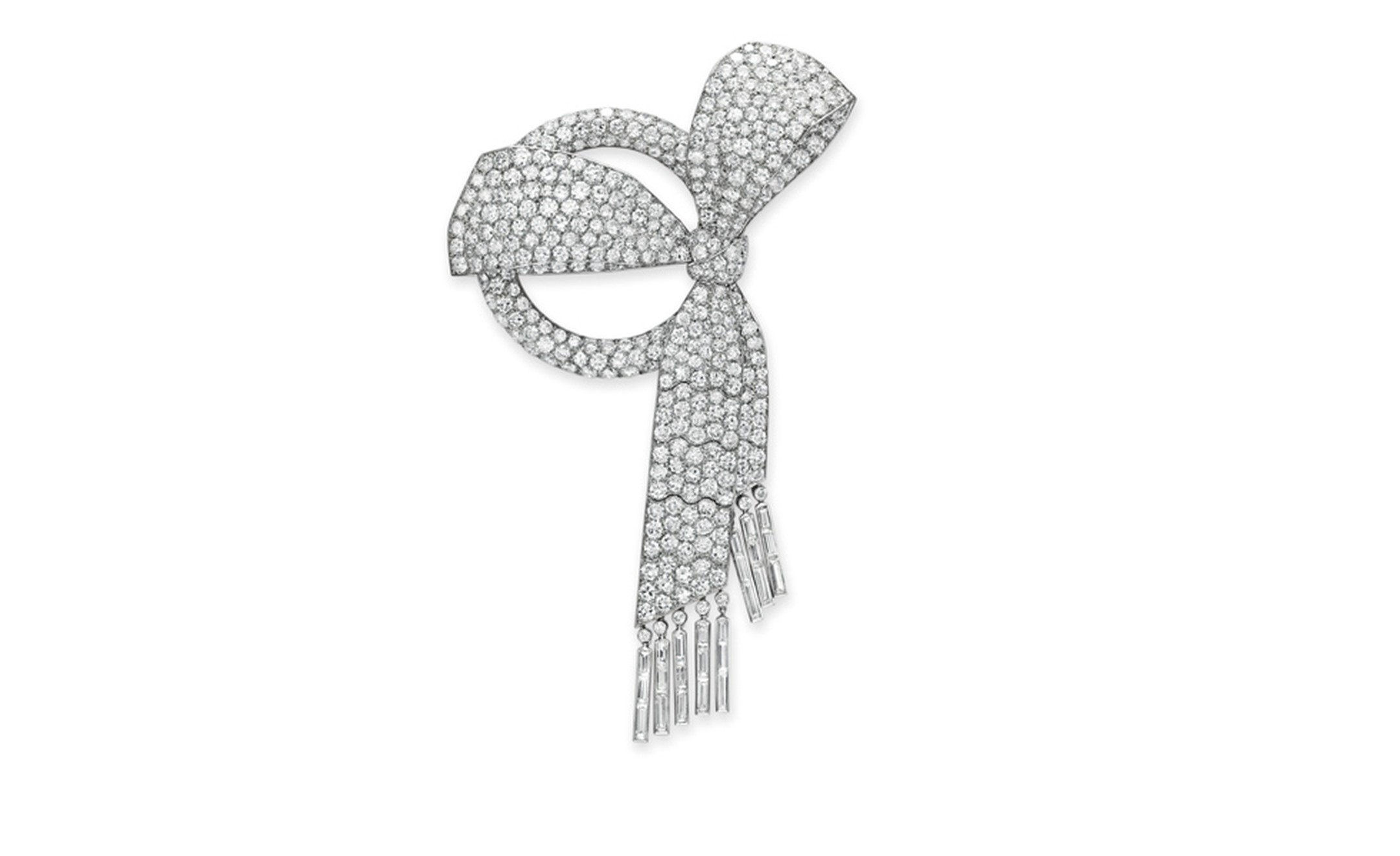 Van Cleef & Arpels. Diamond and Platinum Bow Brooch (1926). © Christie's Images 2011. POA.