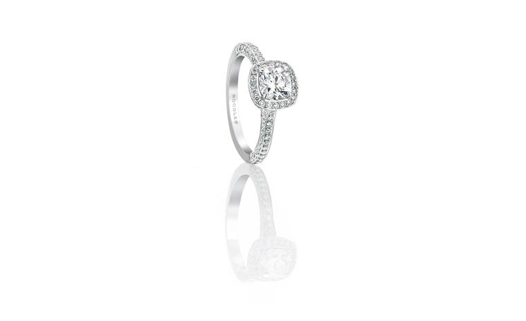 Boodles Cushion cut vintage ring £7,800