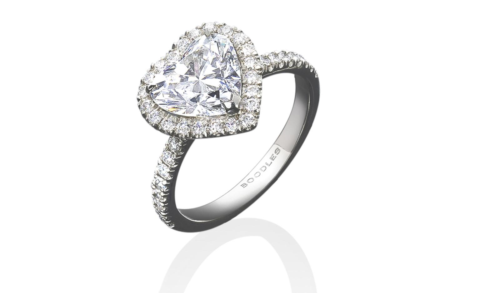 Boodles, Heart shape diamond vintage style ring £42,000