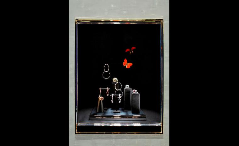 A display of Dior Fine Jewellery at the newly refurbished boutique at 8 Place Vendôme  photo: Kristen Pelou