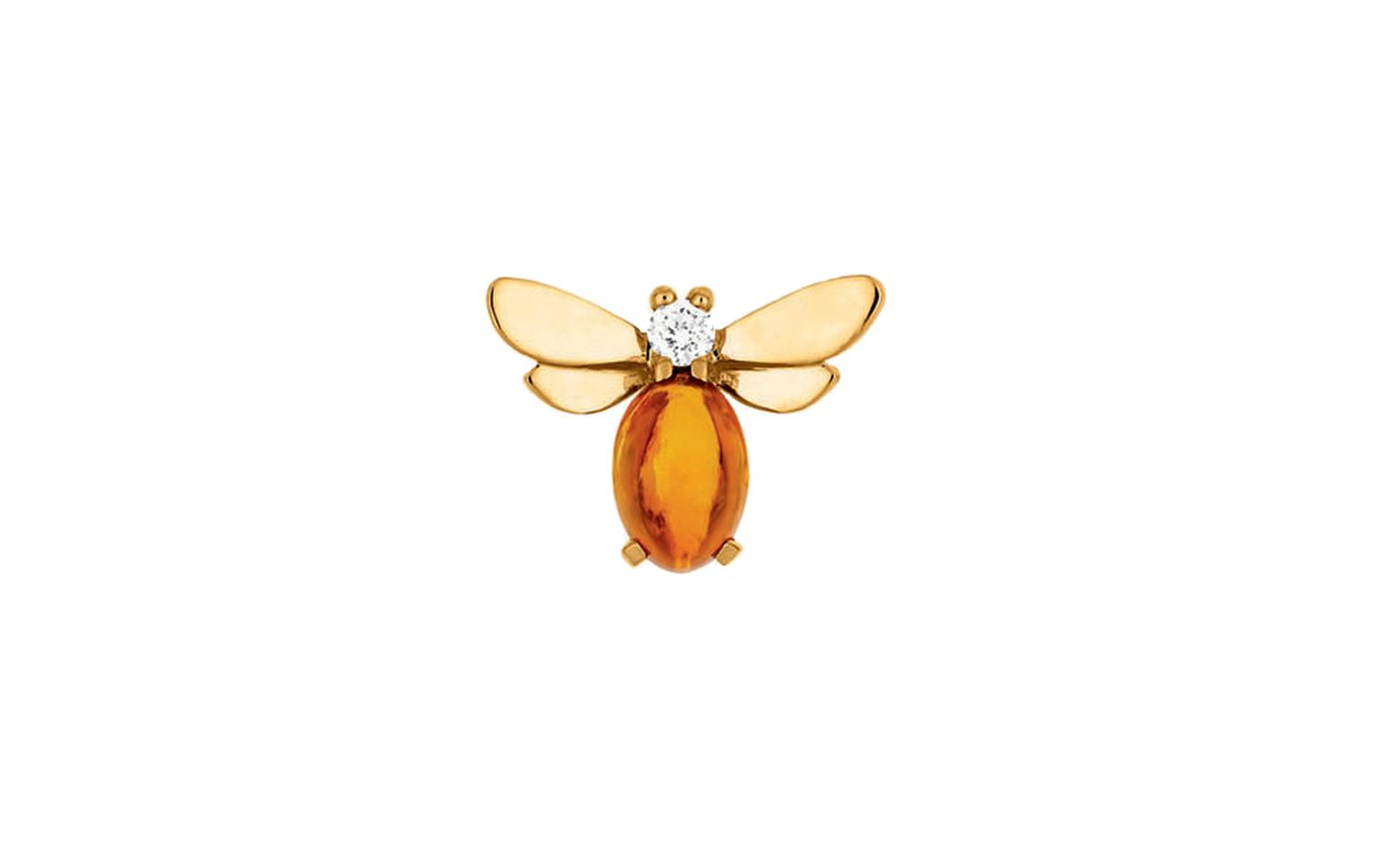 Chaumet, Honey Bee White Diamond and and Citrine Studs which retail at £640