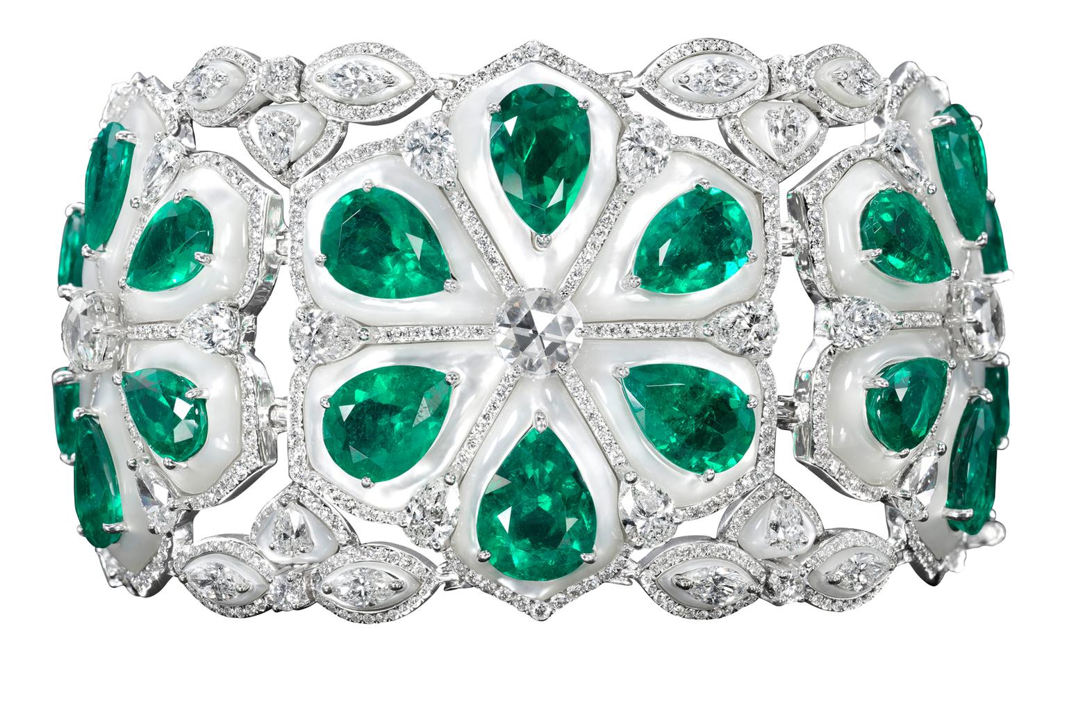 Bogh-Art Emerald and Diamond bracelet_20130718_Zoom