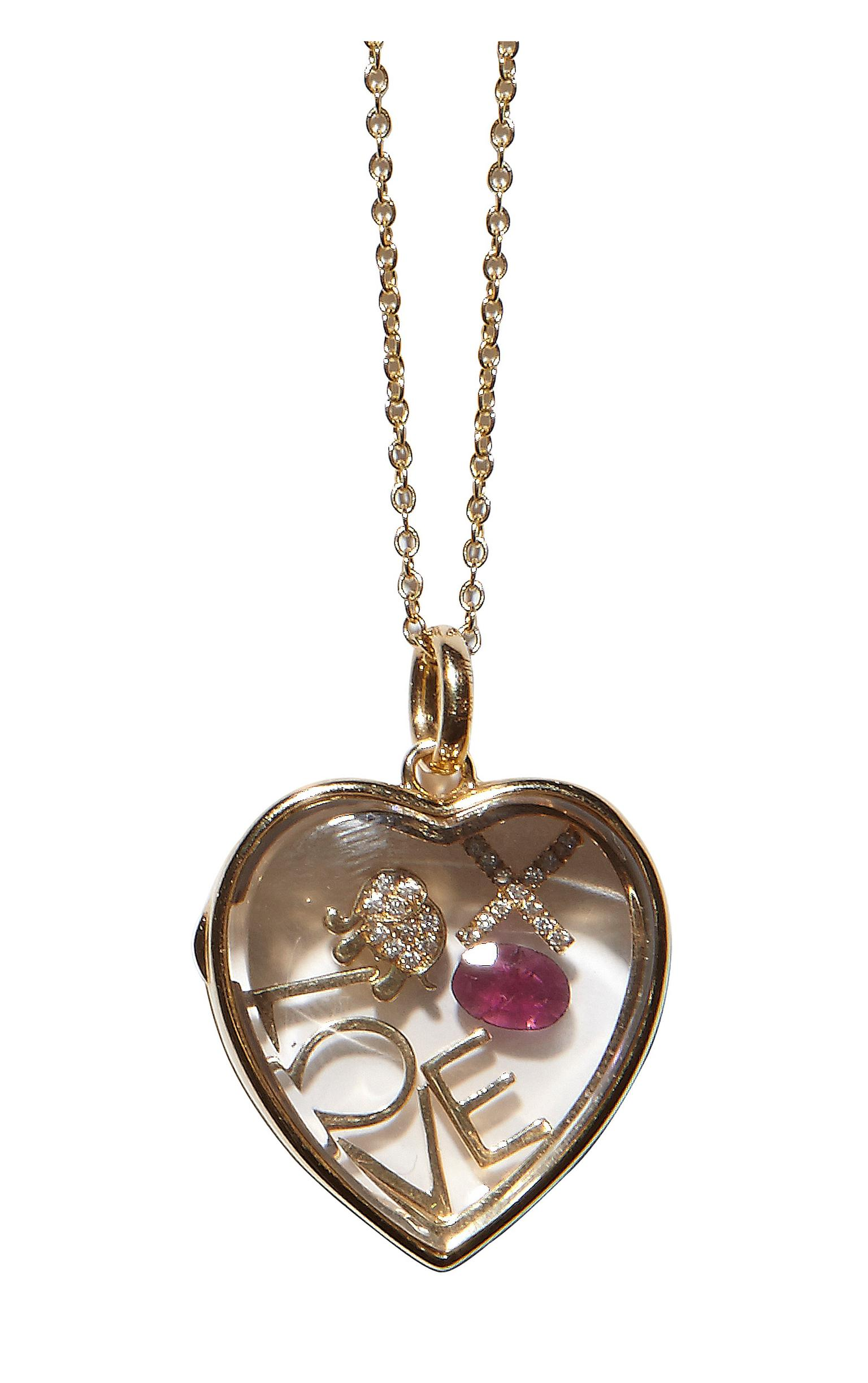 lockets treasure steel yellow gold locket heart image finish