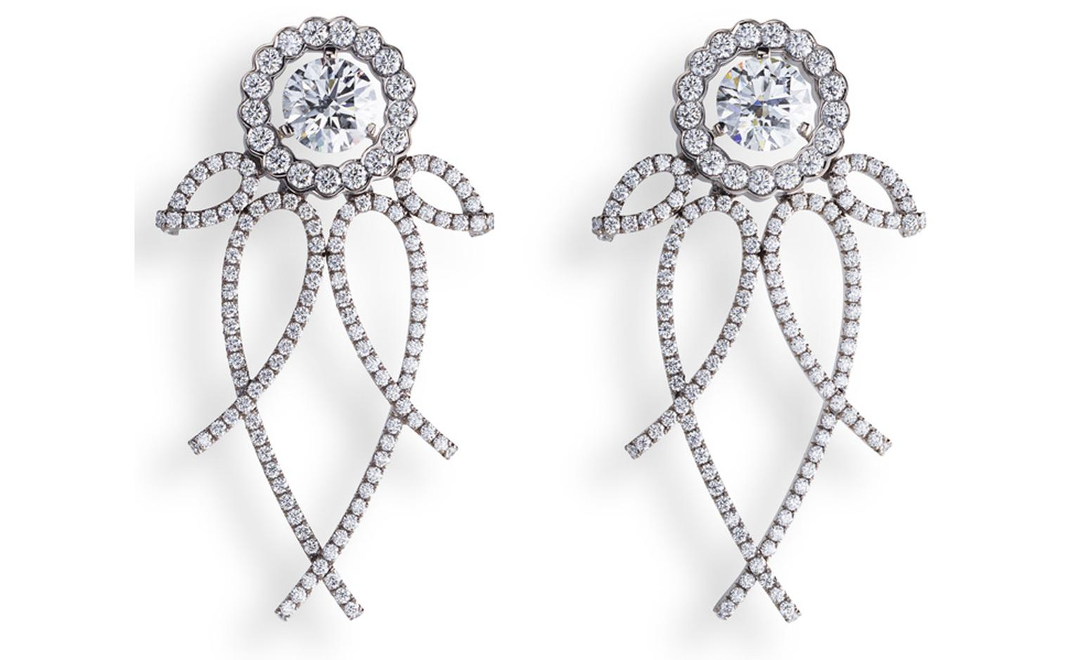 Fabergé Carnet de Bal Trelliage earrings. POA