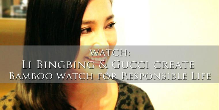 Li Bingbing talks to The Jewellery Editor about her new eco initiative with Gucci