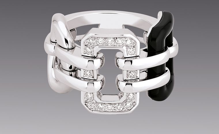 CHANEL, The Premiere in 18kt white gold and onyx premiere ring. £4,225