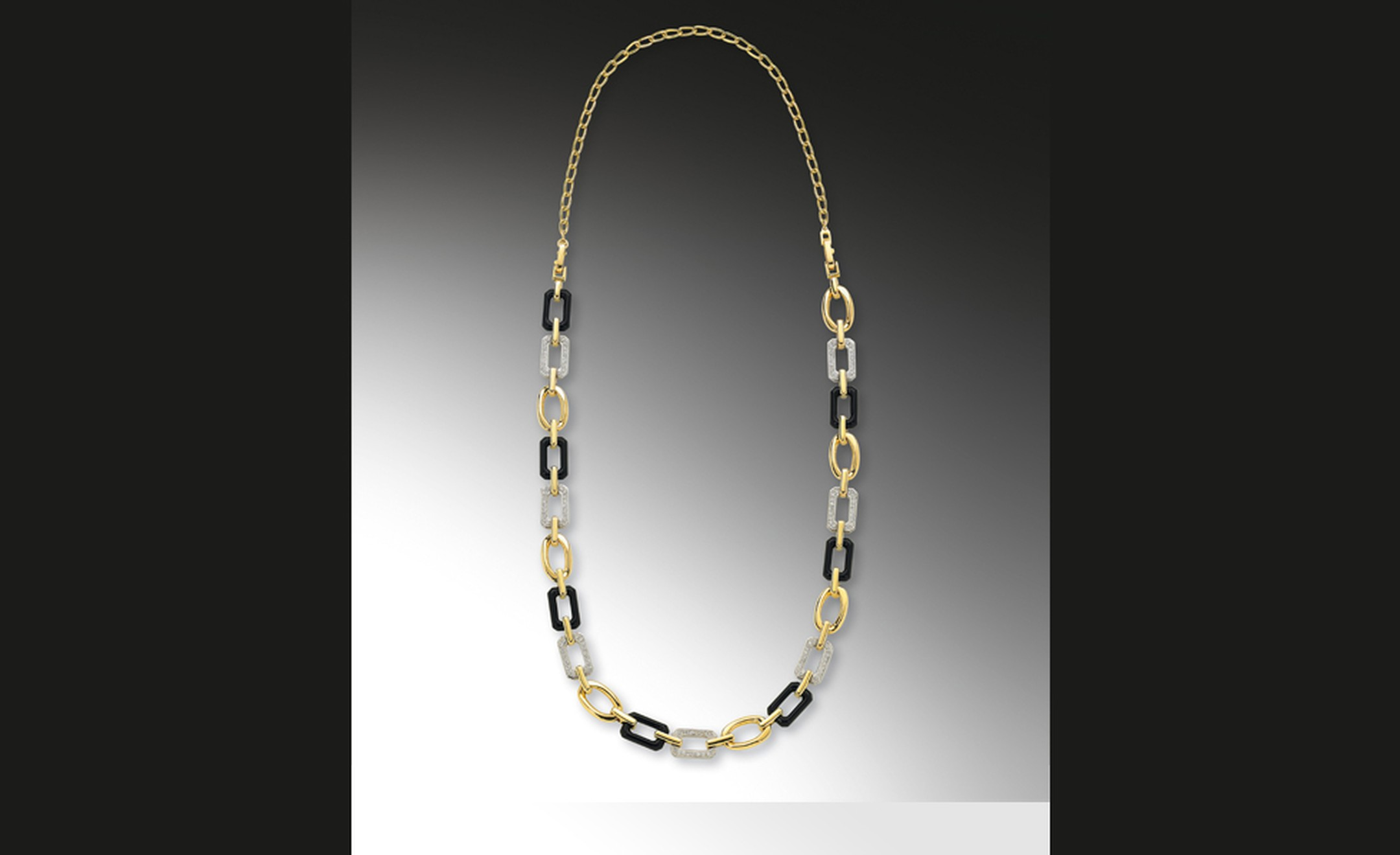 CHANEL, The Premiere necklace in 18kt yellow gold and onyx premiere necklace. £22,000