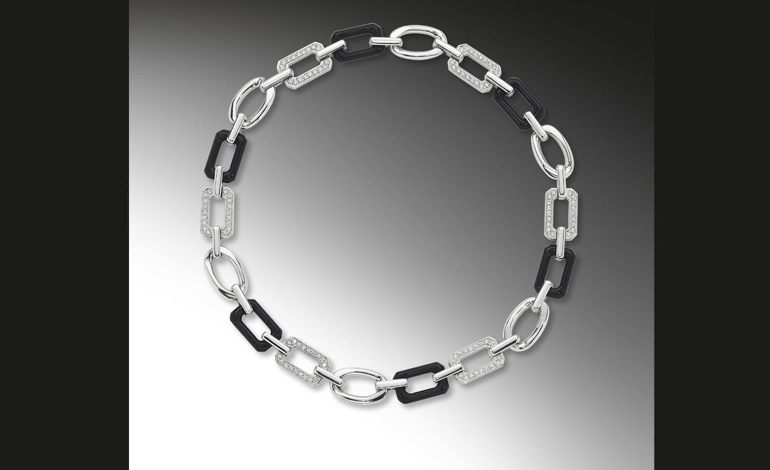 CHANEL, The Premiere in 18kt white gold and onyx premiere necklace. £17,350