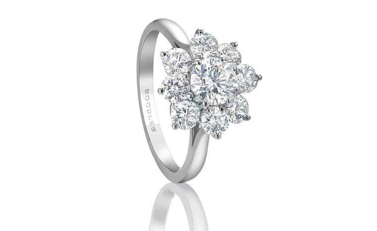 BOODLES, Bolero ring, a classic cluster ring created from brilliant cut diamonds set in platinum. Price from £7,700