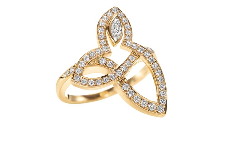 HARRY WINSTON, Lily Cluster Marquise Diamond Ring, 18K Yellow Gold. Price from £4,450