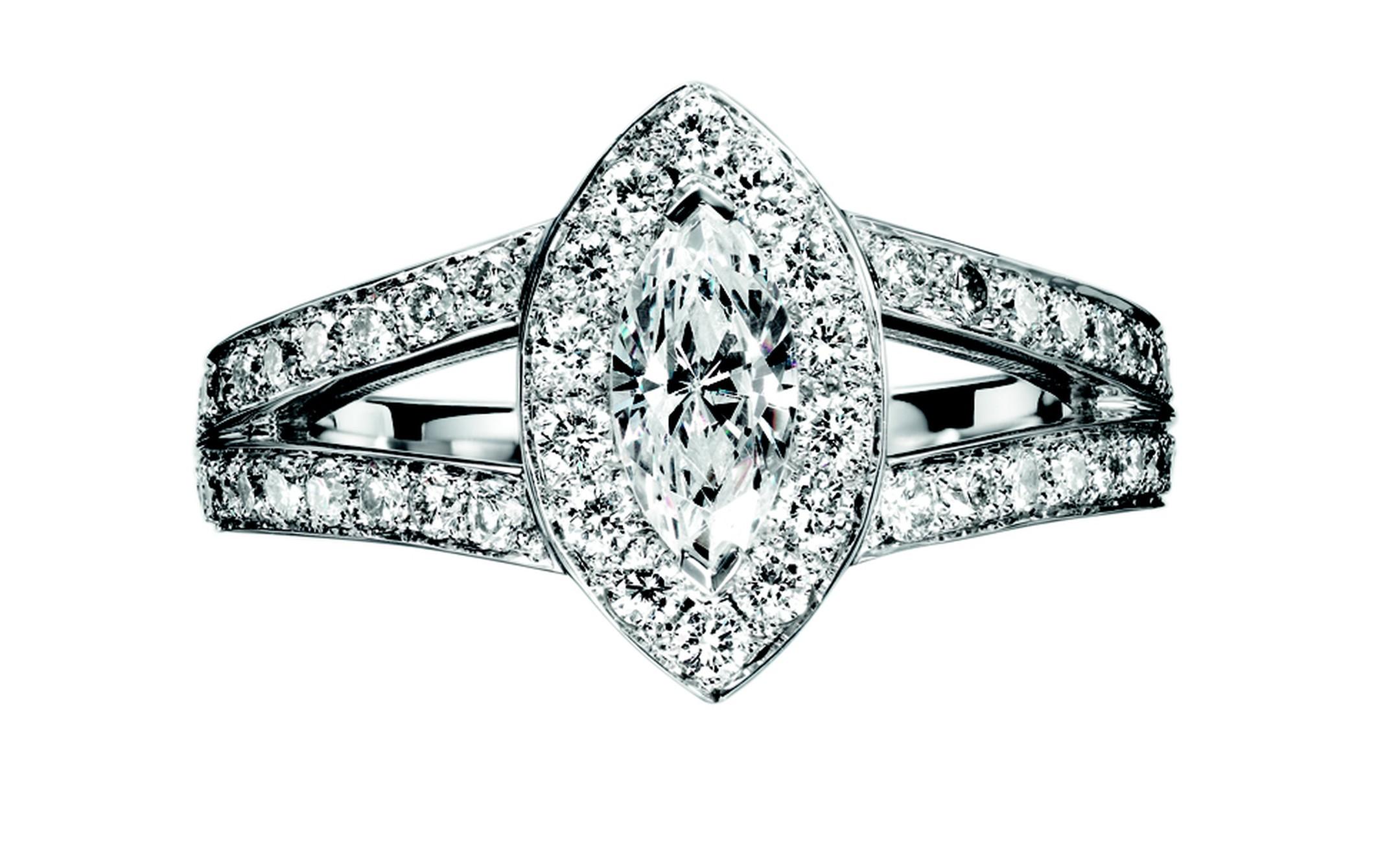 BOUCHERON, Eternal Grace Solitaire in platinum gold and diamonds. Price from £7,800