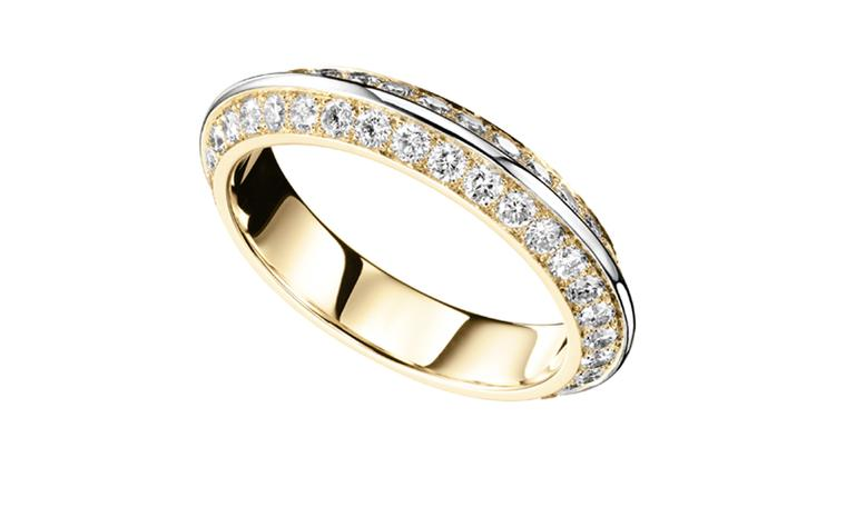 BOUCHERON, Eternal Grace wedding ring, yellow and white gold,  paved with diamonds. Price from £7,800