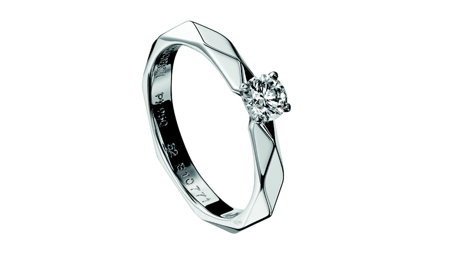 BOUCHERON, Facette Solitaire in white gold. Price from £7,900