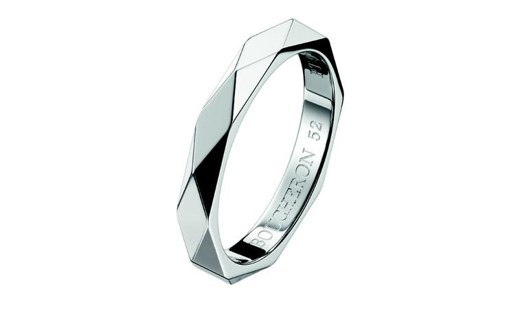 BOUCHERON, Facette wedding ring in platinum. Price from £1,100