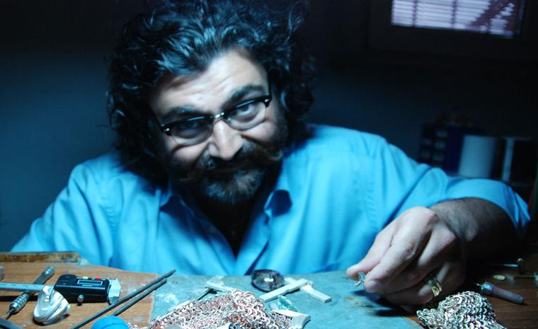 Sevan Biçakçi in his workshop in Istanbul