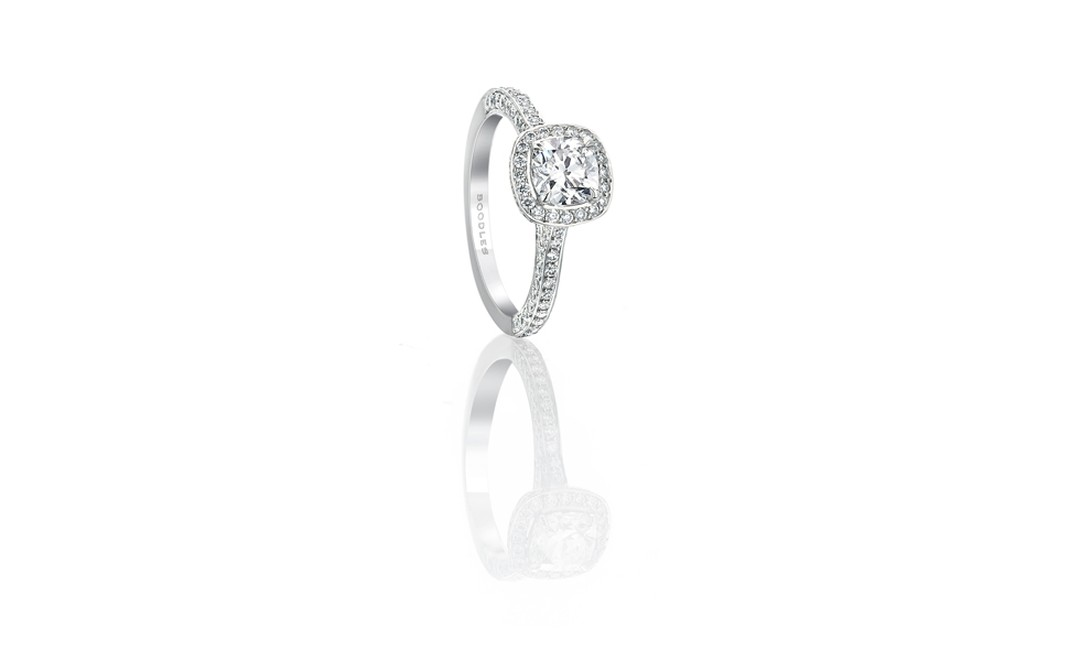BOODLES, Cushion cut vintage ring £7,800