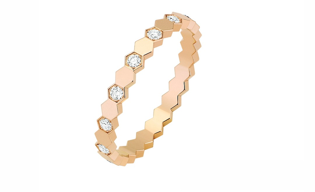 CHAUMET, Bee My Love ring, Rose Gold Half Diamond. Price from  £1350