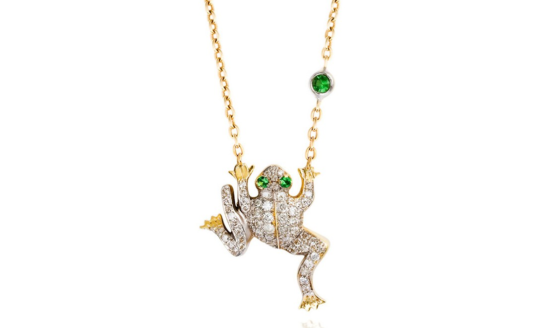 Lez Bazella frog necklace with diamonds £1,775