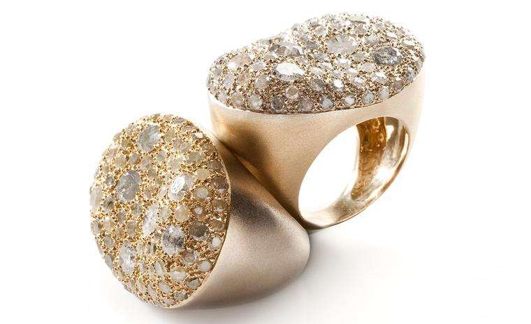 Nada G MALAK rough diamond gold ring £5,750 (each)